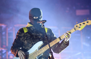 Tyler Joseph of Twenty One Pilots performs at the BB&T Center in Sunrise, Florida