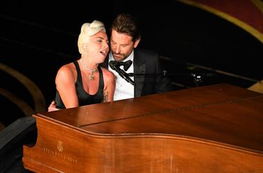 February 24, 2019; Los Angeles, CA, USA; Lady Gaga and Bradley Cooper during the 91st Academy Awards at the Dolby Theatre. Mandatory Credit: Robert Deutsch-USA TODAY NETWORK