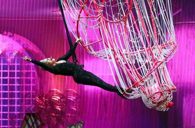 Mar 30, 2019; Glendale, AZ, USA; Pink performs during her 'Beautiful Trauma' world tour at Gila River Arena in Glendale, Ariz. Mandatory Credit: Rob Schumacher/The Republic via USA TODAY NETWORK