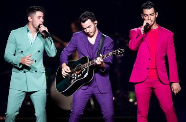 The Jonas Brothers perform at Bridgestone Arena in Nashville, Tenn., Tuesday, Sept. 10, 2019. Jonas 091019 018