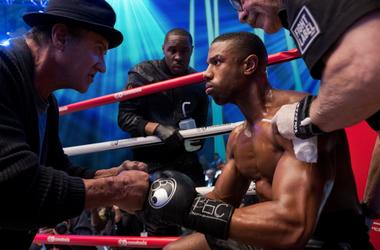Sylvester Stallone stars as Rocky Balboa, Wood Harris as Tony 'Little Duke' Burton, Michael B. Jordan as Adonis Creed and Jacob 'Stitch' Duran as Stitch-Cutman, in CREED II, a Metro Goldwyn Mayer Pictures and Warner Bros. Pictures film.