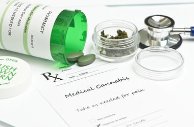 Medical Marijuana. Relief, bottle.
