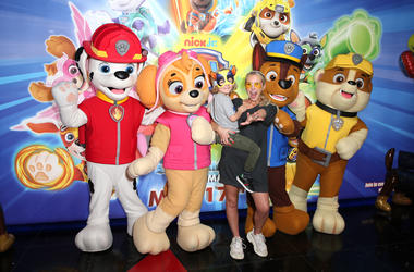 5/12/2019 - Naomi Isted and son attending the Gala screening of Paw Patrol Mighty Pups at the Cineword Leicester Square in London. Picture dated: Sunday May 12, 2019. Photo credit should read: Isabel Infantes / EMPICS Entertainment. (Photo by PA Images/Si