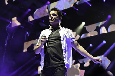 WEST PALM BEACH, FL- JULY 6: Patrick Monahan with the band Train in concert at Coral Sky Amphitheatre, West Palm Beach, Florida, July 6, 2019. (Photo by Ron Elkman/USA TODAY NETWORK/Sipa USA)