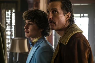"875092 - ""White Boy Rick"" - DF-00699_r - Richie Merritt, left, and Matthew McConaughey star as Richard Wershe Jr. and Richard Wershe Sr. in Columbia Pictures' and Studio 8's WHITE BOY RICK."