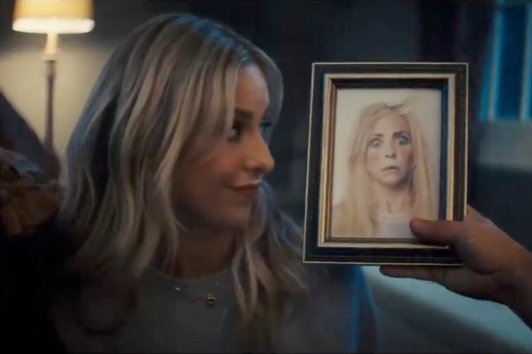 This screen grab from video provided by Olay shows an image from the company's 2019 Super Bowl NFL football spot featuring Sarah Michelle Gellar. Star power abounds in this year's Super Bowl ads. Sarah Michelle Gellar, for instance, is making a horror mov