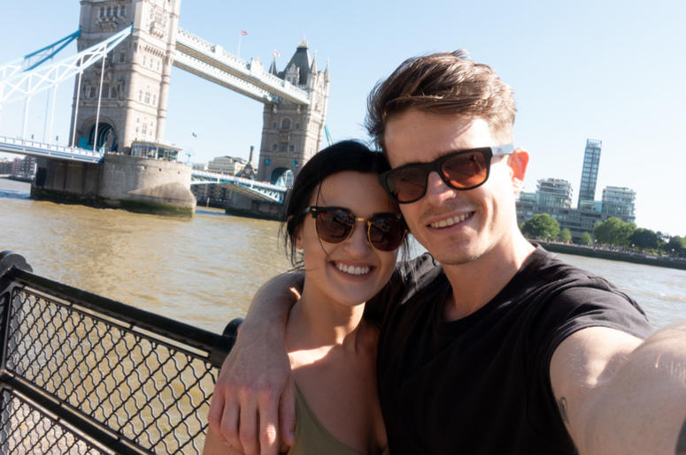 Morgan and her boyfriend, David