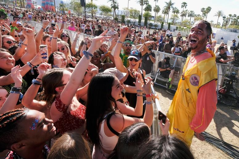 INDIO, CA - APRIL 14: Mikey of Social House performs at the Outdoor Theatre during the 2019 Coachella Valley Music And Arts Festival on April 14, 2019 in Indio, California. (Photo by Frazer Harrison/Getty Images for Coachella)