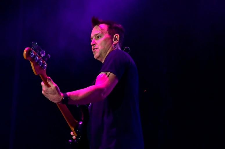 ATLANTIC CITY, NJ - JUNE 30: Mark Hoppus of Blink-182 performs during the second and final day of Warped Tour on June 30, 2019 in Atlantic City, New Jersey. (Photo by Corey Perrine/Getty Images)