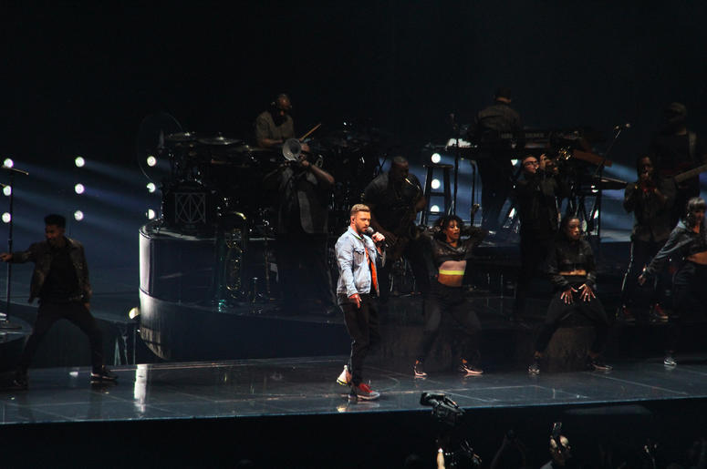 Justin Timberlake at the Q in Cleveland