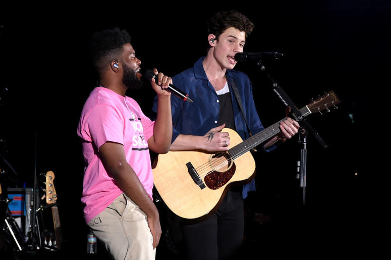 Khalid and Shawn Mendes perform at We Can Survive