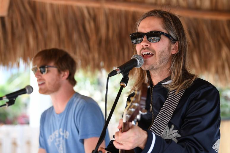 March 29, 2018; Hollywood Beach, FL, USA; Trevor Terndrup (right) and Wes Bailey of Moon Taxi performs at Margaritaville. Mandatory Credit: Ron Elkman/USA TODAY NETWORK