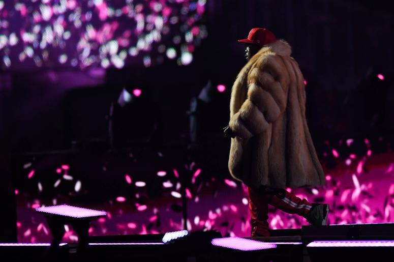 Feb 3, 2019; Atlanta, GA, USA; Recording artist Big Boi performs during the halftime show in Super Bowl LIII at Mercedes-Benz Stadium. Mandatory Credit: Dale Zanine-USA TODAY Sports