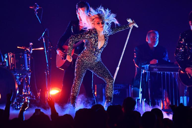 "February 10, 2019; Los Angeles, CA, USA; Lady Gaga performs ""Shallow\"" during the 61st Annual GRAMMY Awards on Feb. 10, 2019 at STAPLES Center in Los Angeles, Calif. Mandatory Credit: Robert Hanashiro-USA TODAY NETWORK"