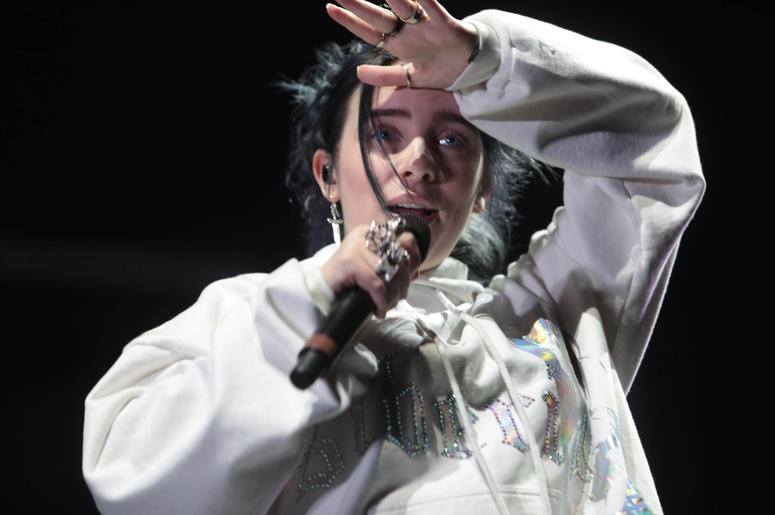 Billie Eilish performs on Saturday, April 13, 2019 at Coachella Valley Music and Arts Festival in Indio, Calif. Billieeilish 36