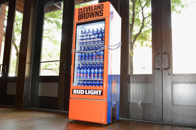 Buy Browns Bud Light Fridge | Q104