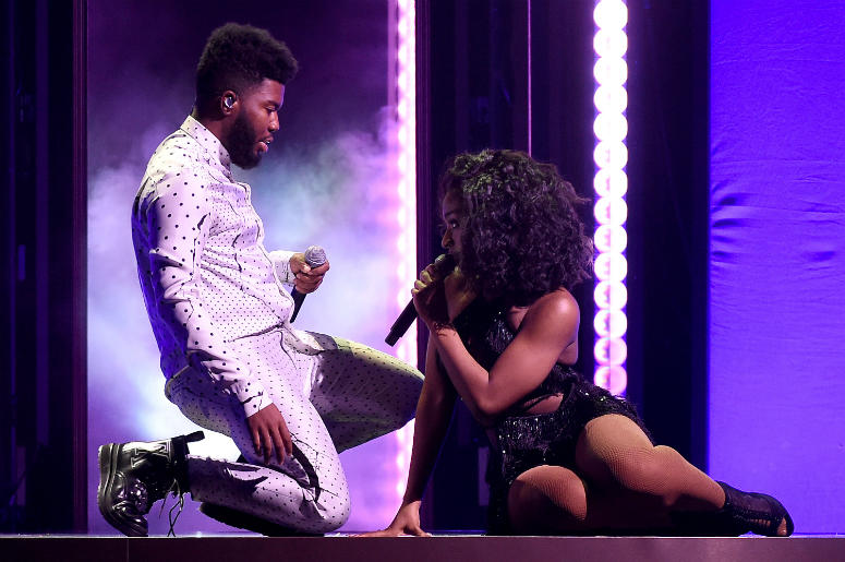 LAS VEGAS, NV - MAY 20: Khalid & Normani performs at the 2018 Billboard Music Awards at MGM Grand Garden Arena on May 20, 2018 in Las Vegas, Nevada.