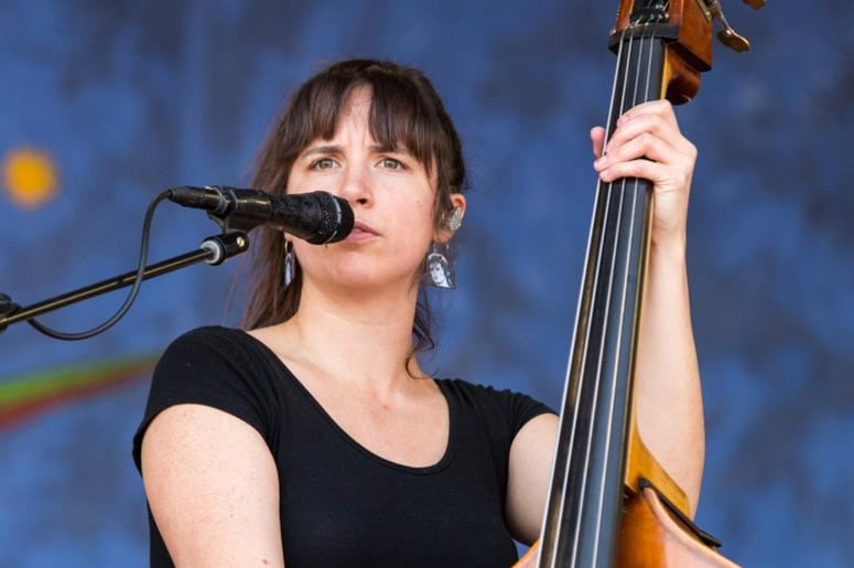 Bridget Kearney of Lake Street Dive at New Orleans Jazz & Heritage Festival at Fair Grounds Race Track on May 5, 2017, in New Orleans, Louisiana (Photo by Daniel DeSlover/imageSPACE) *** Please Use Credit from Credit Field ***