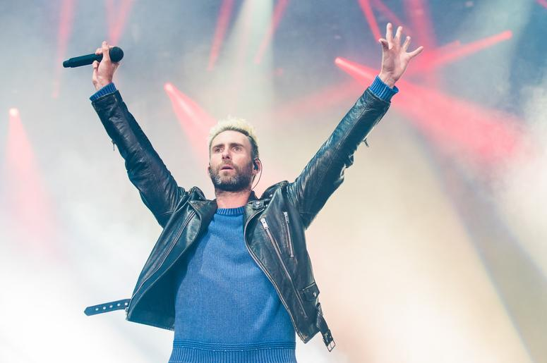 Musician Adam Levine of Maroon 5 performs on Day One of BottleRock Napa Valley 2017 on May 26, 2017 in Napa, California. (Photo by Chris Tuite/ImageSPACE) *** Please Use Credit from Credit Field ***