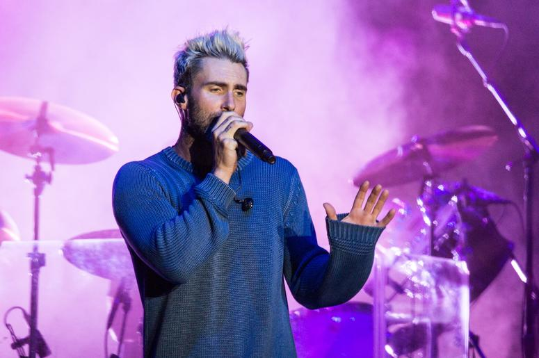 Adam Levine of Maroon 5 during the BottleRock Napa Valley Music Festival on May 26, 2017, in Napa, California (Photo by Daniel DeSlover/imageSPACE) *** Please Use Credit from Credit Field ***