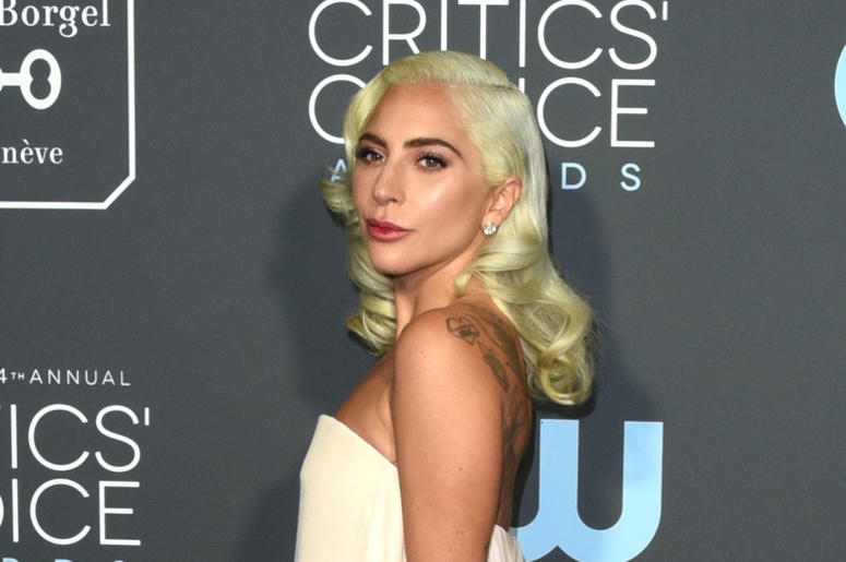 LOS ANGELES, CALIFORNIA - JANUARY 13: Lady Gaga attends the 24th Annual Critics' Choice Awards at Barker Hangar on January 13, 2019 in Santa Monica, California. Photo: imageSPACE/SIPA USA