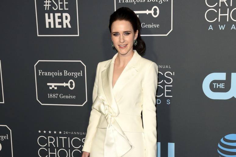 LOS ANGELES, CALIFORNIA - JANUARY 13: Rachel Brosnahan attends the 24th Annual Critics' Choice Awards at Barker Hangar on January 13, 2019 in Santa Monica, California. Photo: imageSPACE/SIPA USA