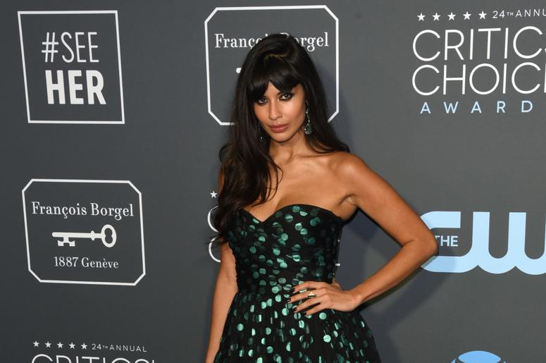 LOS ANGELES, CALIFORNIA - JANUARY 13: Jameela Jamil attends the 24th Annual Critics' Choice Awards at Barker Hangar on January 13, 2019 in Santa Monica, California. Photo: imageSPACE/SIPA USA