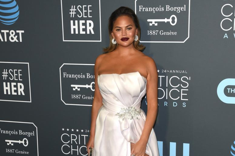LOS ANGELES, CALIFORNIA - JANUARY 13: Chrissy Teigen attends the 24th Annual Critics' Choice Awards at Barker Hangar on January 13, 2019 in Santa Monica, California. Photo: imageSPACE/MediaPunch