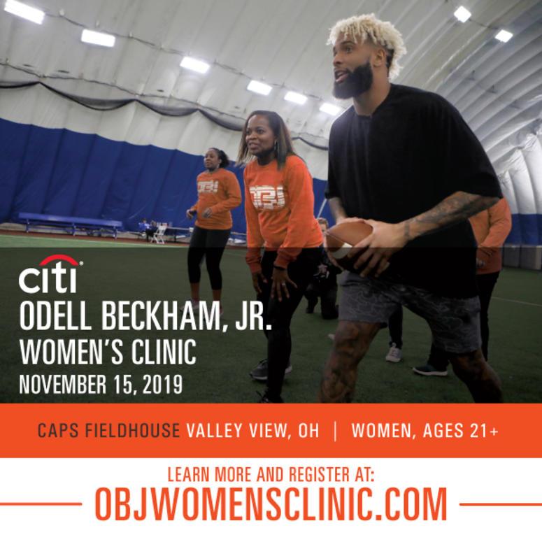 sale retailer 80c80 53ec0 Odell Beckham Jr. Women's Football Clinic   Q104