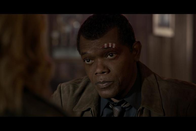 Samuel L. Jackson as Nick Fury in Captain Marvel credit Marvel Studios