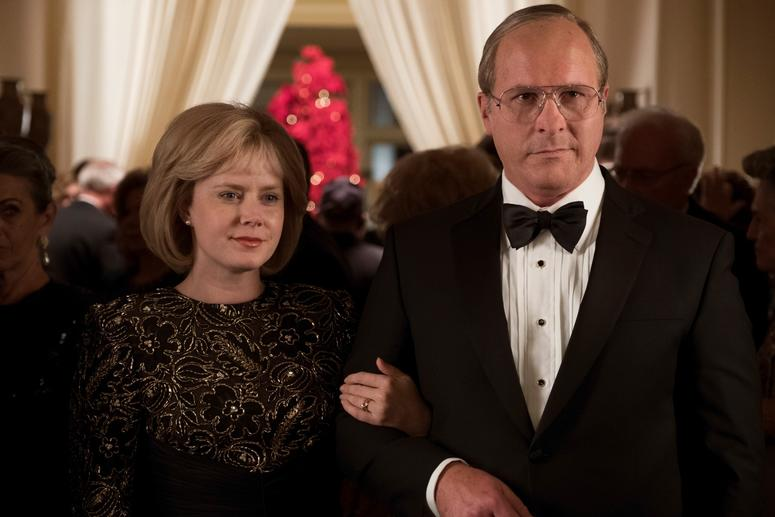 Amy Adams (left) as Lynne Cheney and Christian Bale (right) as Dick Cheney in Adam McKay's VICE, an Annapurna Pictures release.