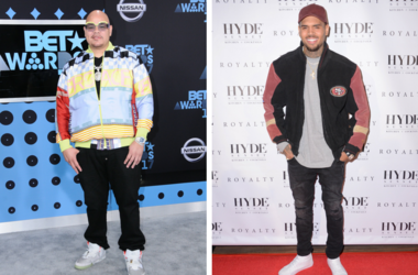 """25 June 2017 - Los Angeles, California - Fat Joe. 2017 BET Awards held at the Microsoft Square in Los Angeles. / 15 December - Los Angeles, Ca - Chris Brown. Arrivals for the Chris Brown Listening Party For """"Royalty"""" held at Hyde Sunset Kitchen + Cocktail"""