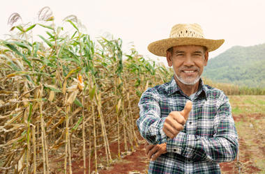 farmer giving thumbs up