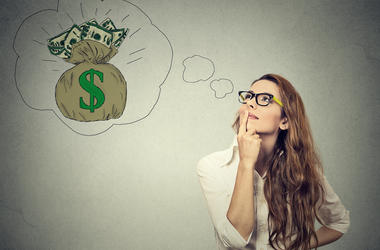 Woman Dreaming of Money