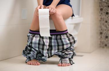 Woman On Toilet