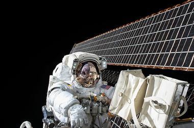 NASA Astronaut Space Walk