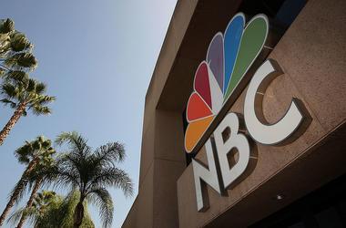 NBC Network Peacock Logo On Building