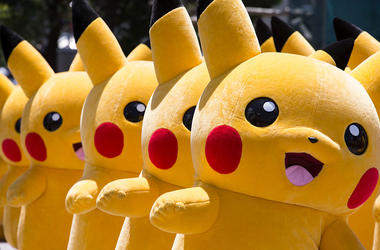 many people in pikachu costumes