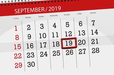 september 19 2019 on calendar