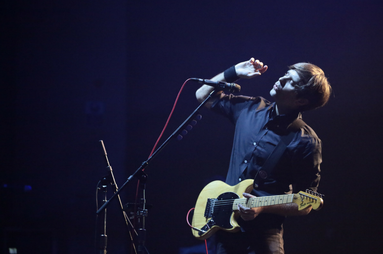 Ben Gibbard of Death Cab for Cutie performing live on stage at the Brixton O2 Academy in London
