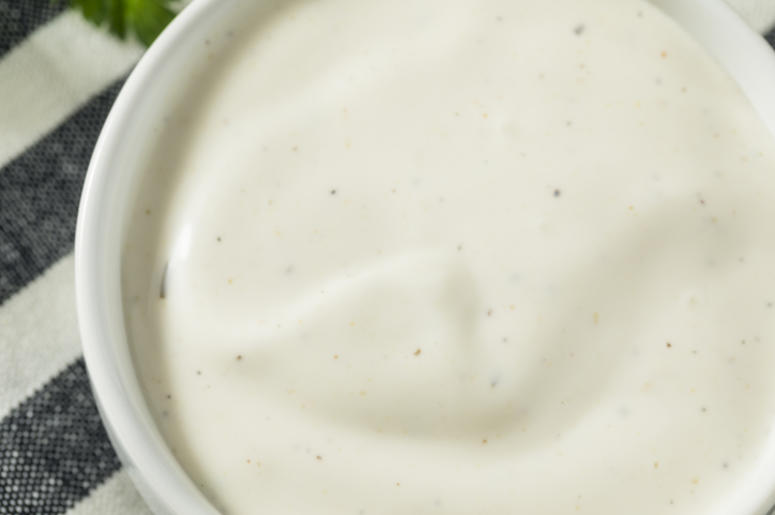 ranch dressing in a little bowl