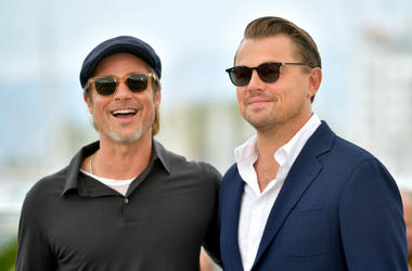 "Brad Pitt and Leonardo DiCaprio attend the photocall for ""Once Upon A Time In Hollywood"" during the 72nd annual Cannes Film Festival"