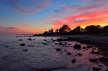 Sunset in Lyme Connecticut