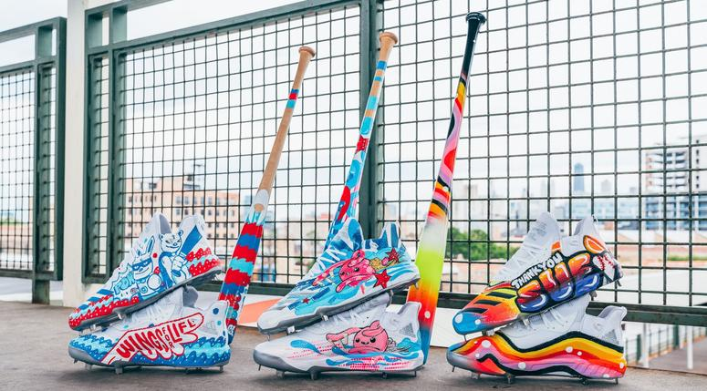Kris Bryant's cleats and bats for MLB Players' Weekend
