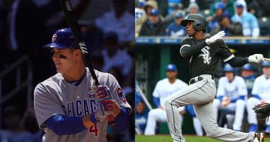 Cubs first baseman Anthony Rizzo, left, and White Sox shortstop Tim Anderson