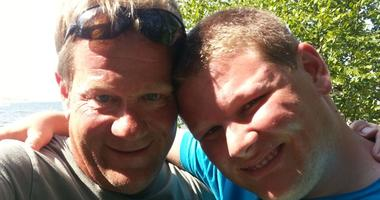 Dan McNeil, left, and his son Patrick