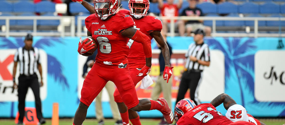 brand new 1b256 53c6d Bears Draft FAU RB Kerrith Whyte Jr. In 7th Round | 670 The ...