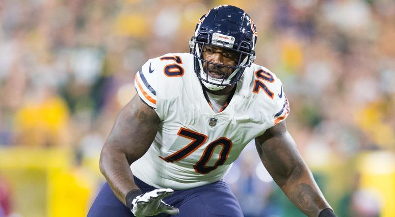 Bears offensive tackle Bobby Massie