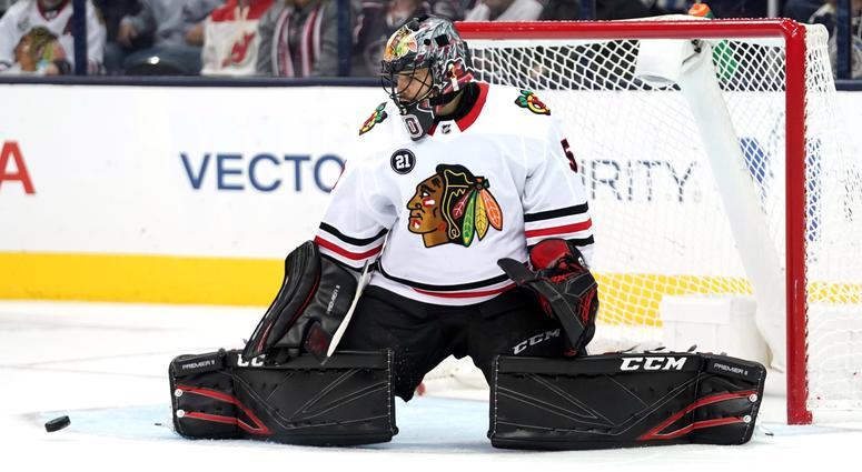 Blackhawks goalie Corey Crawford
