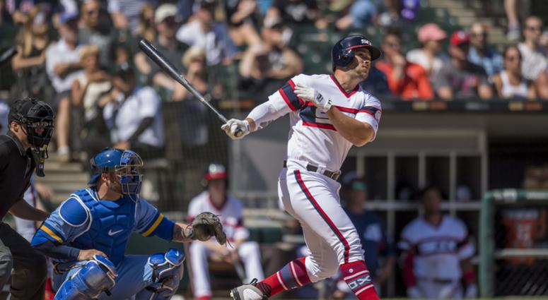 White Sox outfielder Daniel Palka hits a homer.